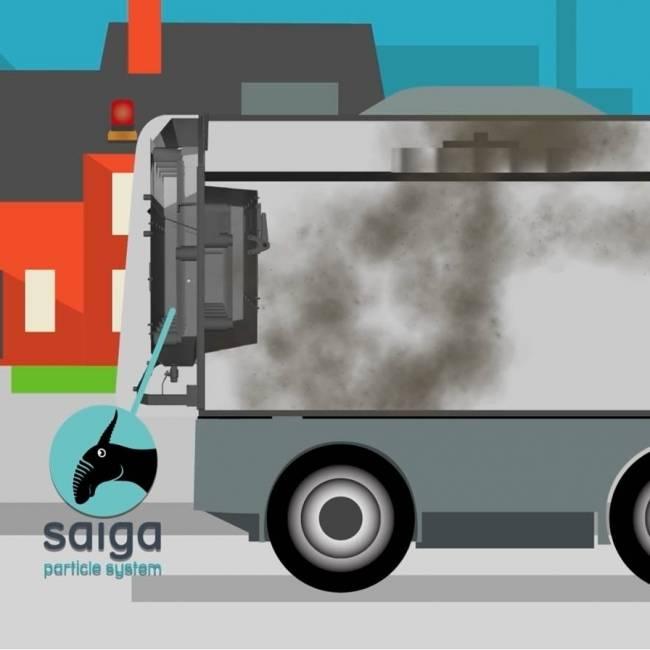 Ravo ausgestattet mit SAIGA Particle System